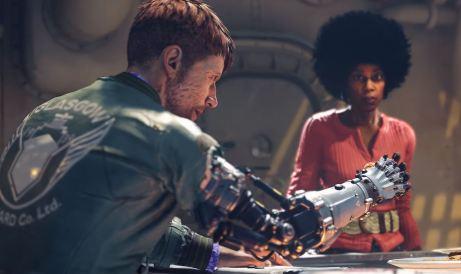 wolfenstein robot arm guy
